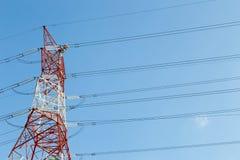Elektryczności linii energetycznej pilon Zdjęcia Royalty Free