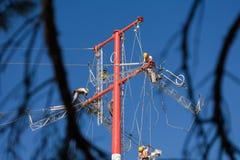 Elektryczności linii naprawy Zdjęcie Stock