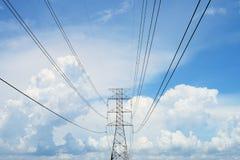 Elektryczność słup Zdjęcia Stock