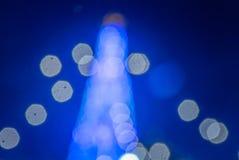 Elektryczny światło w bożych narodzeń i nowego roku wigilii Zdjęcia Stock