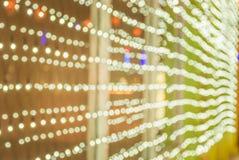 Elektryczny światło w bożych narodzeń i nowego roku wigilii Zdjęcie Stock
