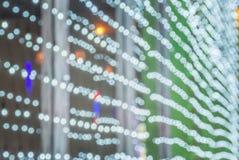 Elektryczny światło w bożych narodzeń i nowego roku wigilii Obraz Royalty Free
