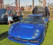 Elektryczny Błękitny Brytyjski Szlachetny sporta samochód obraz royalty free