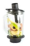 Elektryczny blender z owoc obrazy stock
