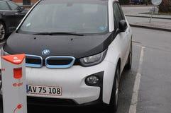ELEKTRYCZNY BMW samochód Fotografia Royalty Free