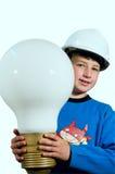 elektryczny daje światłu Fotografia Royalty Free