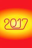 Elektryczny Druciany Szczęśliwy 2017 - JAK-1 obraz royalty free