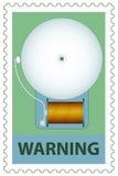 Elektryczny dzwon na znaczku royalty ilustracja