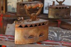 Elektryczny żelazo stary Zdjęcia Royalty Free