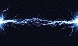 Elektryczny energii rozładowania 3d wektorowy lekki skutek ilustracji