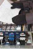 Elektryczny i automatyzacja inżynier zdjęcie stock