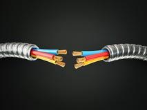 Elektryczny kabel ilustracja wektor