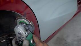 Elektryczny koła śrutowanie na stali samochód zbiory wideo