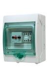 Elektryczny kontrolny pudełko na bielu Obraz Royalty Free