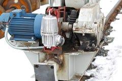 Elektryczny machinalny actuator koła kętnara żuraw zdjęcie royalty free