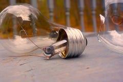 Elektryczny niepowodzenie, spadek cywilizacja, zaświeca out Zdjęcia Royalty Free