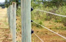 Elektryczny ogrodzenie Obraz Royalty Free