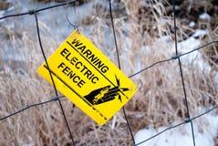 elektryczny ogrodzenie Fotografia Royalty Free