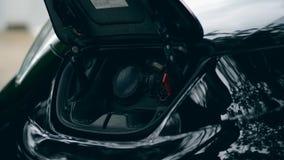 Elektryczny paliwowy nozzle dostaje brać za samochodzie od zbiory wideo