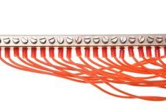 Elektryczny panel z drutami obrazy royalty free