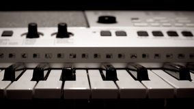 elektryczny pianino Zdjęcia Stock