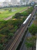 Elektryczny pociąg bts Fotografia Royalty Free
