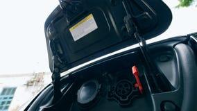 Elektryczny podładowywa samochód dostaje zatrzymujący zbiory wideo