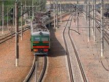 elektryczny podmiejski pociąg Obrazy Stock