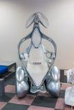 Elektryczny pojazd jest jeden opisywana wystawa w Toyota muzeum Zdjęcie Royalty Free