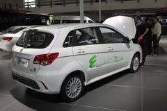 Elektryczny pojazd w Międzynarodowym zaawansowany technicznie expo obrazy stock