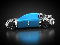 Elektryczny pojazd z abstrakcjonistycznym carbody ilustracji