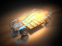 Elektryczny pojazd z abstrakcjonistycznym carbody ilustracja wektor