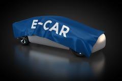 Elektryczny pojazd z błękitną koc ilustracja wektor