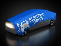 Elektryczny pojazd z błękitną koc ilustracji