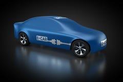 Elektryczny pojazd z błękitnym carbody ilustracja wektor