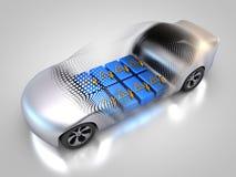Elektryczny pojazd z otwartym carbody ilustracji