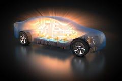Elektryczny pojazd z otwartym carbody ilustracja wektor