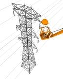 elektryczny pracownik ilustracja wektor