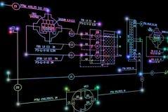 Elektryczny przemysłowej inżynierii plan ilustracja wektor