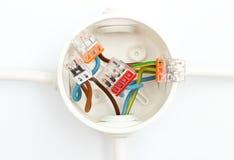 Elektryczny pudełko na ścianie Obraz Stock