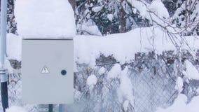 Elektryczny pudełko W zimie zbiory