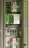 Elektryczny pulpit operatora z urządzeniami elektronicznymi Fotografia Stock