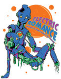 Elektryczny romans ilustracja wektor