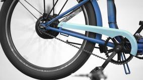 Elektryczny rowerowy koło wiruje, innowaci wystawa, eco życzliwy transport zbiory wideo
