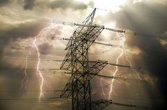 elektryczny słup Fotografia Stock