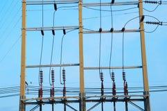 Elektryczny słup Zdjęcia Stock