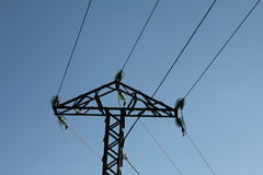 Elektryczny słup Obrazy Stock