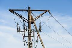 Elektryczny słup. Zdjęcia Stock