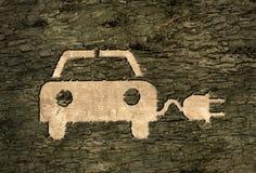 Elektryczny samochód na barkentynie ilustracja wektor