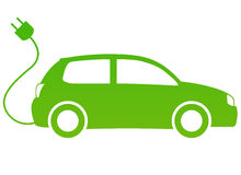 Elektryczny samochód Zdjęcie Royalty Free
